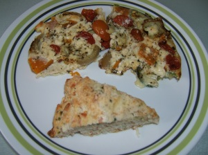 Vegetable Frittata with Scone